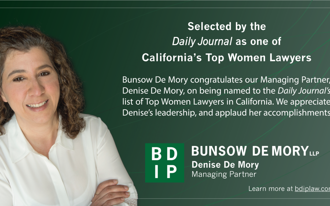 Denise De Mory Selected by the Daily Journal as one of California's Top Women Lawyers